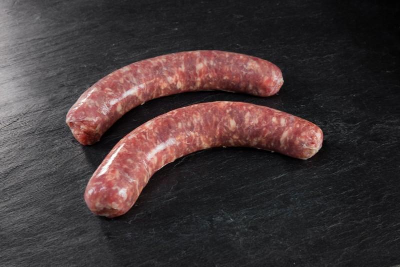 Grosse saucisse nature prix boucherie artisanale en ligne - livraison sous vide 24h
