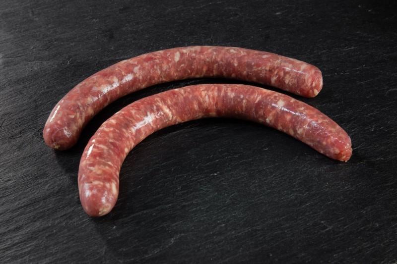 Fine saucisse nature prix boucherie artisanale en ligne - livraison sous vide 24h