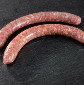 Fine saucisse aux herbes prix boucherie artisanale en ligne - livraison sous vide 24h